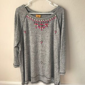 Ruby Road Beaded Crewneck Sweater